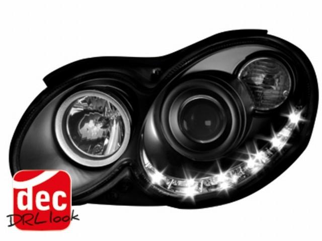 Tagfahrlicht-Optik Scheinwerfer Mercedes CLK C209 03-08 schwarz