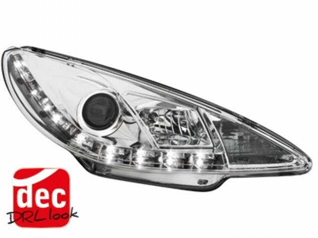 Tagfahrlicht-Optik Scheinwerfer Peugeot 206 (98-07) chrom