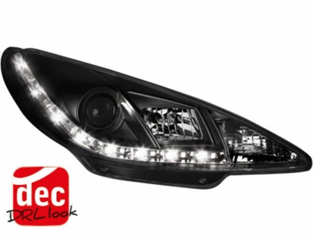 Tagfahrlicht-Optik Scheinwerfer Peugeot 206 (98-07) schwarz