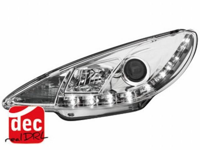 Tagfahrlicht Scheinwerfer Peugeot 206 (98-07) chrom