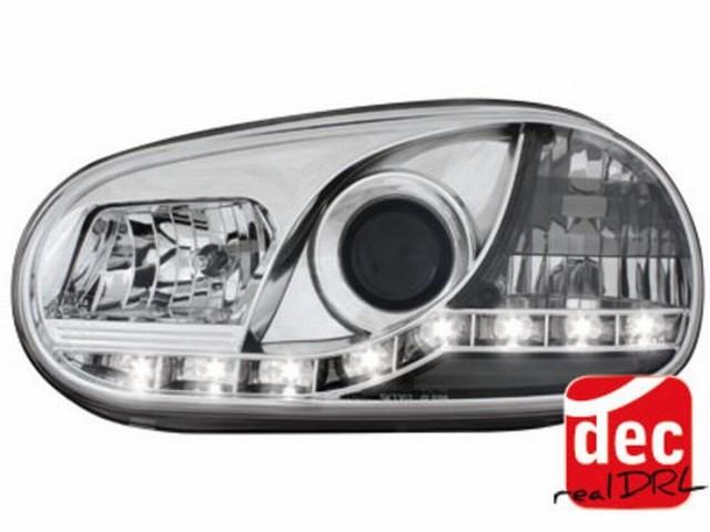 Tagfahrlicht Scheinwerfer VW Golf IV 98-02 chrom