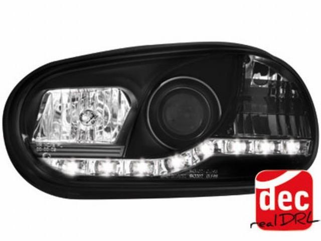 Tagfahrlicht Scheinwerfer VW Golf IV 98-02 schwarz