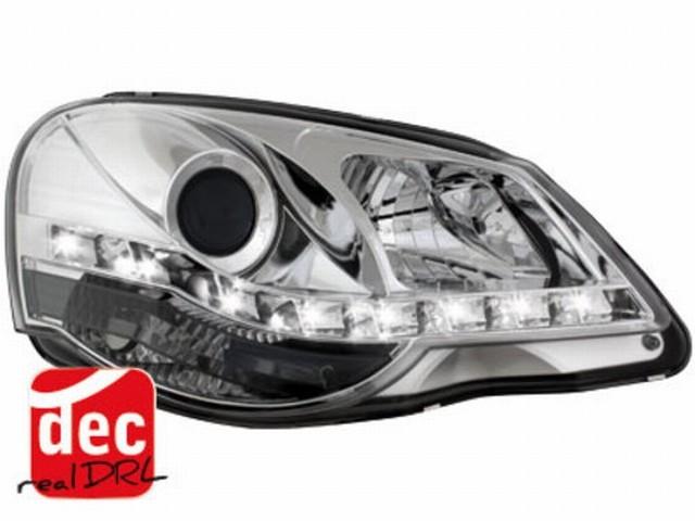 Tagfahrlicht Scheinwerfer VW Polo 9N3 05.05-09 chrom