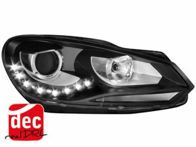Tagfahrlicht Scheinwerfer VW Golf VI 08+ schwarz