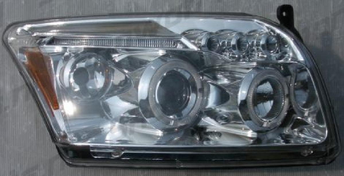 Dodge Caliber 06+ Angel Eye Headlights Chrome V1