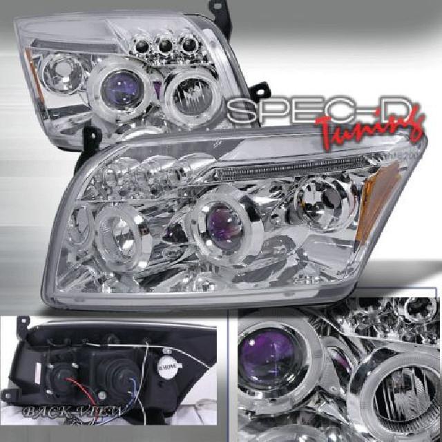 Dodge Caliber 06+ Halo Projector Headlights Chrome