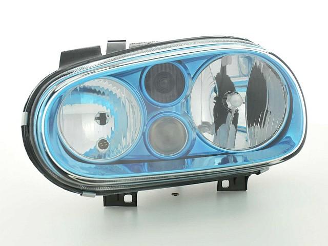 Scheinwerfer VW Golf 4 Typ 1J Bj. 98-03 blau mit Nebelscheinwerfer