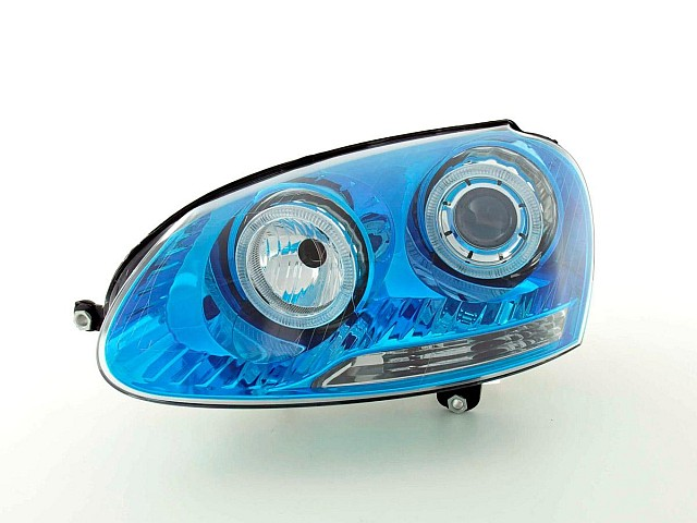 Scheinwerfer Angel Eyes VW Golf 5 Typ 1K Bj. 03-08 blauchrom