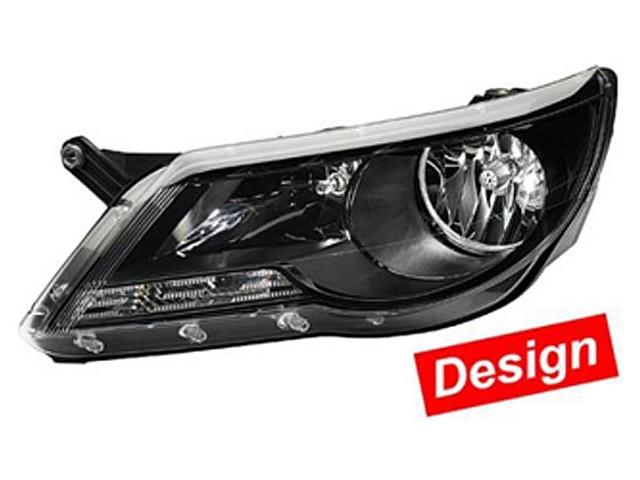 Hella Hauptscheinwerfersatz VW Tiguan Bj. ab 09/07 schwarz/glasklar