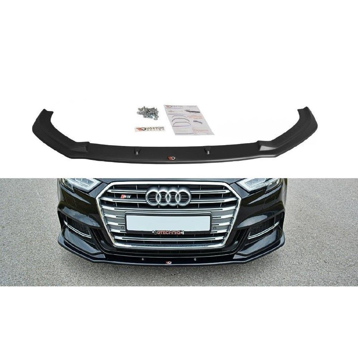Cup Spoilerlippe Front Ansatz für V.1 Audi S3 / A3 S-Line 8V FL schwarz matt