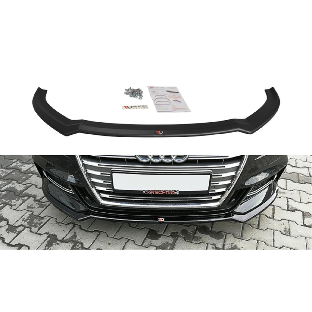 Cup Spoilerlippe Front Ansatz V.2 für Audi S3 / A3 S-Line 8V FL schwarz matt