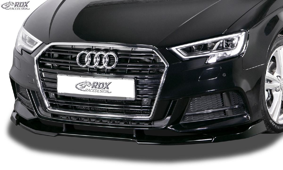 Frontspoiler für AUDI A3 8V, 8VA Sportback, 8VS Limousine, 8V7 Cabrio S-Line & S3,Facelift 2016,+ Frontlippe Front Ansatz Vorne Spoilerlippe