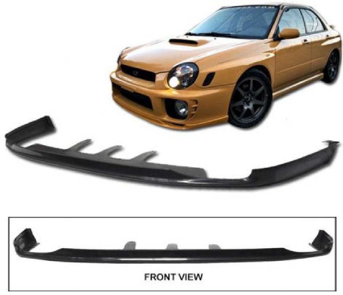 Subaru Impreza 01-03 C-West 2 Urethane Front Bumperlip
