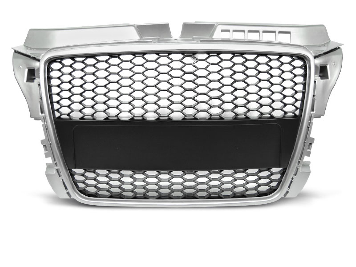 GRILLE SPORT SILVER fits AUDI A3 (8P) SPORT 04.08-07.12