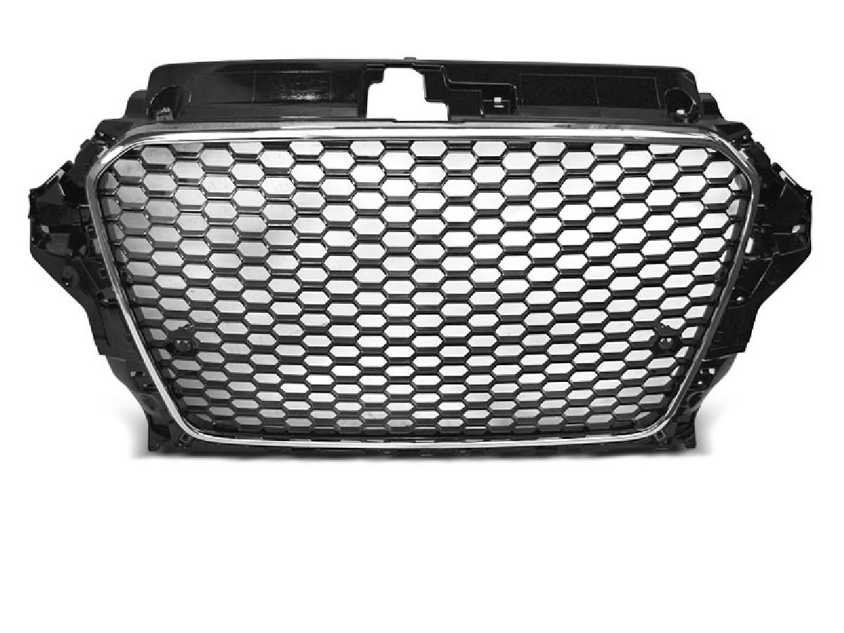 GRILLE SPORT CHROME BLACK fit AUDI A3 (8V) 12-16
