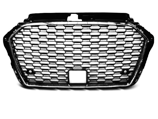 GRILLE SPORT CHROME BLACK fit AUDI A3 (8V) 17-