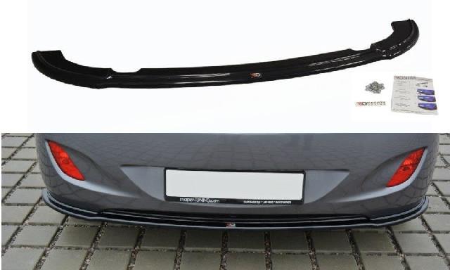 ZENTRALE HINTEN SPLITTER Hyundai i30 mk.2 Hochglanz Schwarz