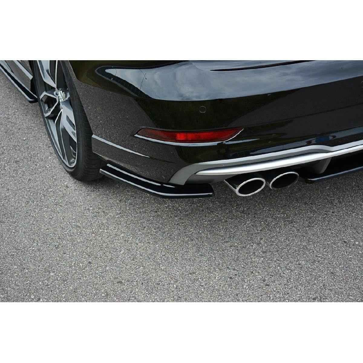 Heck Ansatz Flaps Diffusor für Audi S3 / A3 S-Line 8V FL Limousine schwarz matt