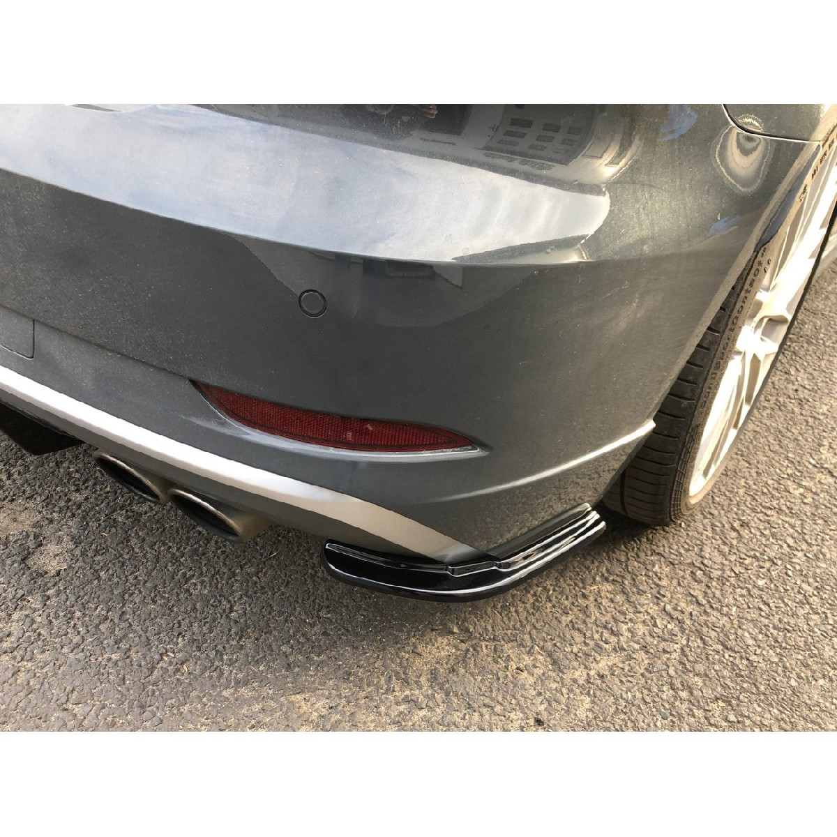 Heck Ansatz Flaps Diffusor für AUDI S3 8V FACELIFT schwarz matt