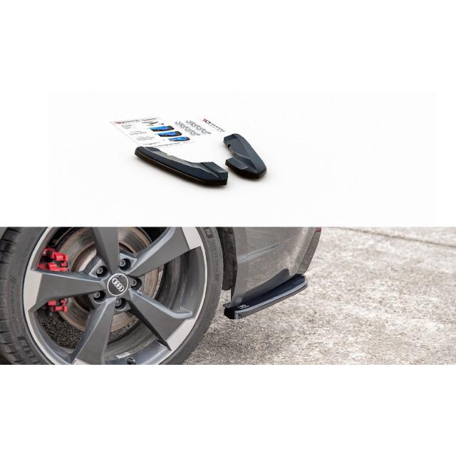 Heck Ansatz Flaps Diffusor V.2 für Audi RS3 8V Sportback schwarz matt