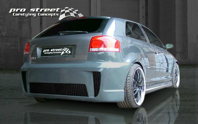 Race Look  Heckschürze Audi A3 Typ 8P