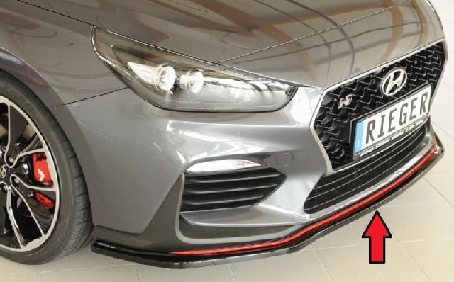 Rieger Spoilerschwert für N Frontschürze PDE schwarz glanz passend für Hyundai I30
