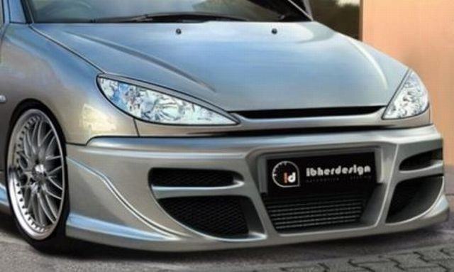 Frontstoßstange Peugeot 206 3/5T/CC Bj. 98-10 TEKNO