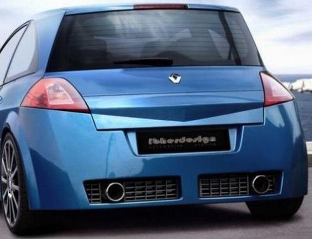 Heckstoßstange Renault Megane 2 HB 3/5T Bj. 02-06 VEGA