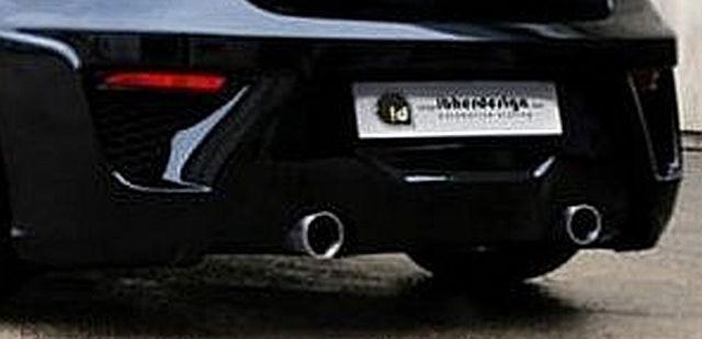 Heckstoßstange Seat Ibiza 6J 5T Bj. 08-12 CORVO, für Doppel-Endrohr