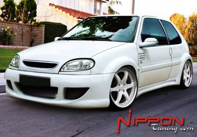 Breitbau Bodykit Citroen Saxo 3T WARRIOR WIDE