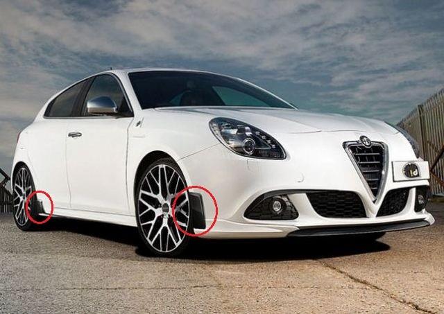 Set Karbon Canards Alfa Romeo Giulietta Bj. 10-