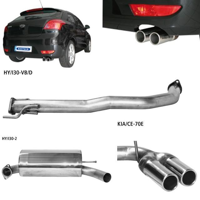 Bastuck Edelstahl Komplett-Auspuffanlage KIA Ceed & ProCeed Diesel