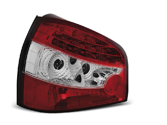 LED TAIL LIGHTS RED WHITE fits AUDI A3 09.96- 08.00