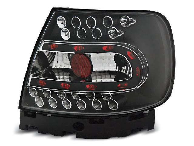 LED TAIL LIGHTS BLACK fits AUDI A4 B5 11.94-10.00