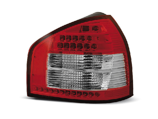 LED TAIL LIGHTS RED WHITE fits AUDI A3 08.96-08.00