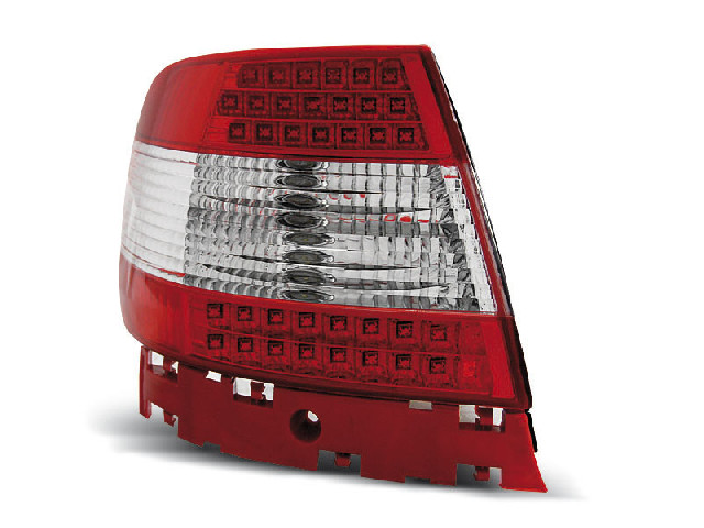 LED TAIL LIGHTS RED WHITE fits AUDI A4 11.94-09.00