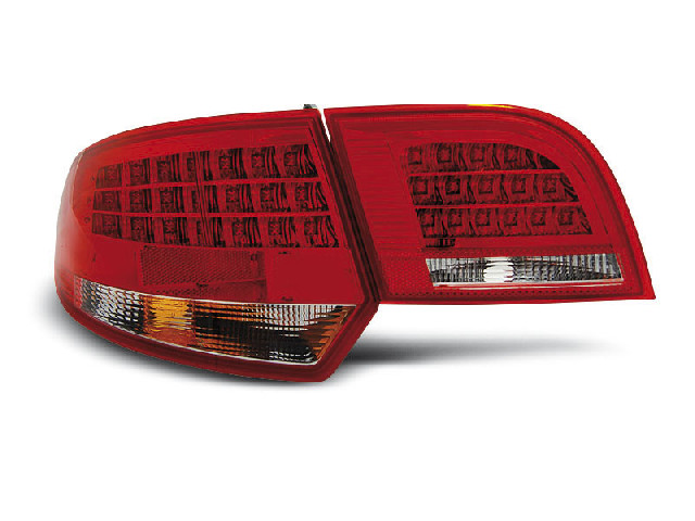LED TAIL LIGHTS RED WHITE fits AUDI A3 8P 04-08 SPORTBACK