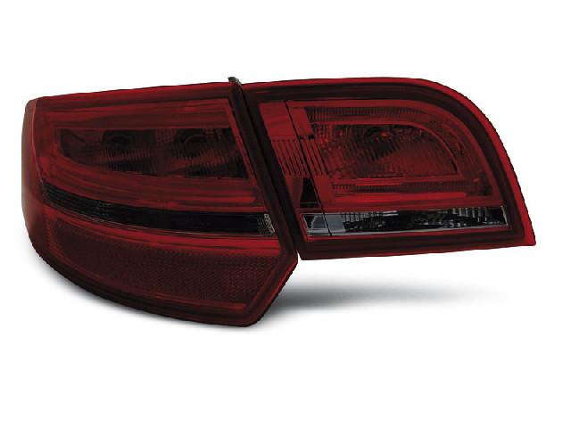 LED TAIL LIGHTS RED SMOKE fits AUDI A3 8P 04-08 SPORTBACK