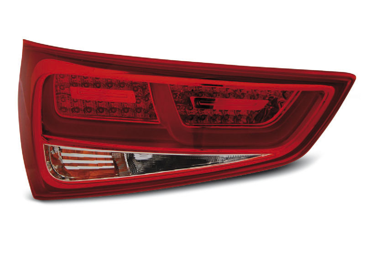 LED TAIL LIGHTS RED WHITE fits. AUDI A1 2010-12.2014