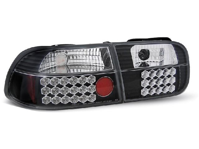 HONDA CIVIC 09.91-08.95 2D/4D BLACK LED Rückleuchten