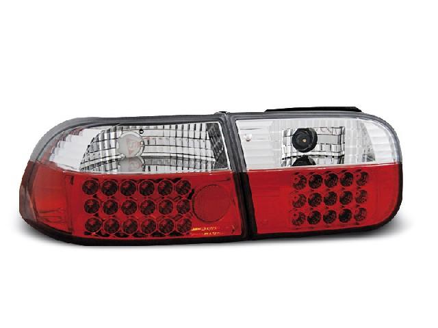 HONDA CIVIC 09.91-08.95 2D/4D RED WHITE LED