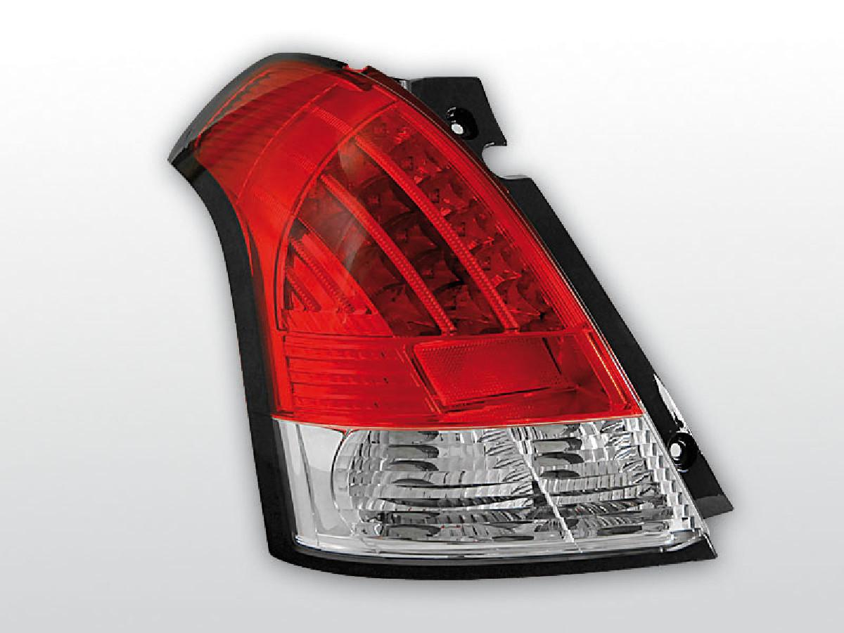SUZUKI SWIFT 05.05-10 RED WHITE LED Rückleuchten