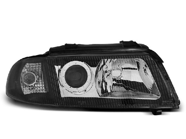 HEADLIGHTS BLACK fits AUDI A4 01.99-11.00
