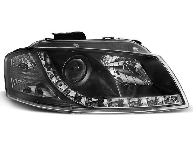 HEADLIGHTS DAYLIGHT BLACK fits AUDI A3 8P 05.03-03.08