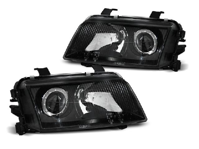 HEADLIGHTS BLACK fits AUDI A4 11.94-12.98