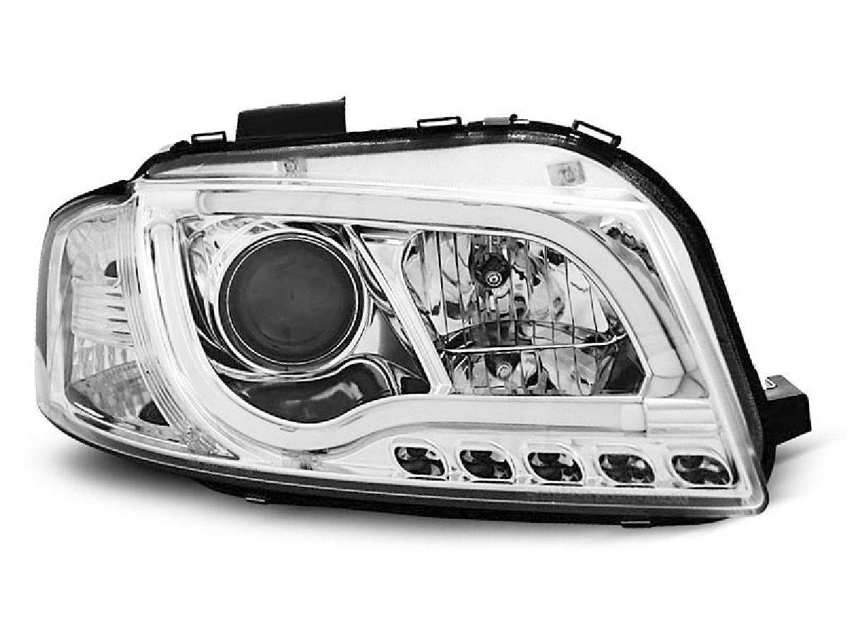 HEADLIGHTS TUBE LIGHT CHROME fits AUDI A3 8P 05.03-03.08