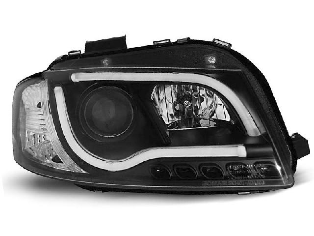 HEADLIGHTS TUBE LIGHT BLACK fits AUDI A3 8P 05.03-03.08