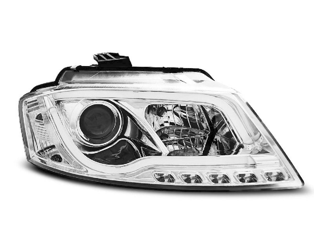HEADLIGHTS TUBE LIGHT DRL CHROME fits AUDI A3 8P 08-12