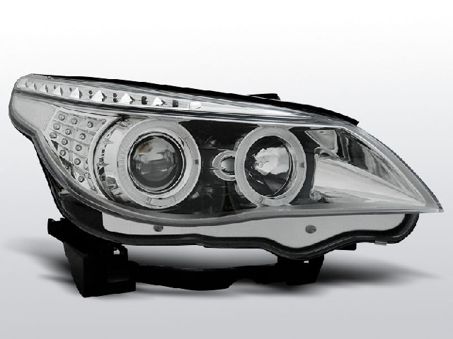 BMW E60/E61 03-07 ANGEL EYES CHROME LED INDIC.