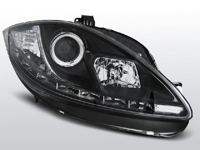 SEAT LEON ALTEA 09-13 TRU DRL BLACK Front Scheinwerfer